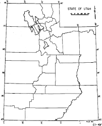 Map Of Utah by Webtext Geography Of Utah
