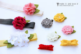how to make baby hair bows wool felt hair accessories for baby make it and it