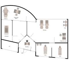 Example Floor Plans Gym And Spa Area Plans Solution Conceptdraw Com