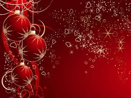 christmas wallpaper in red color wide high resolution
