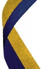 blue and gold ribbon medal ribbons