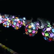 multi colored solar garden lights multi colored solar string lights ball outdoor color led fairy