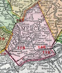 mercer map mercer county virginia 1911 map by rand mcnally princeton