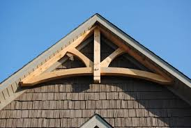 gable trim curved tie king post gable truss exterior