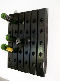 furniture charming black wood wall mounted wine rack design ideas