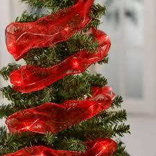 red organza led wired ribbon garland ribbon and trims craft