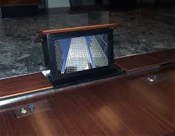 conference table with recessed monitors kpmg 02 executive boardroom monitor jpg