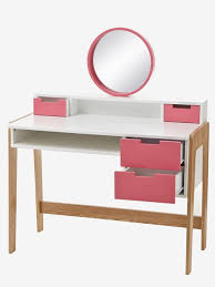bureau enfant vertbaudet bureau coiffeuse spécial primaire colors blocs blanc bois