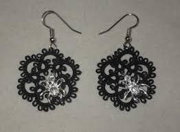 halloween earrings tatting by wendy halloween