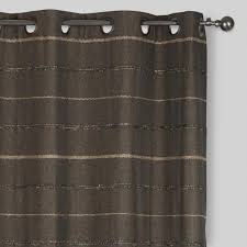 gray striped chambray grommet top curtains set of 2 world market