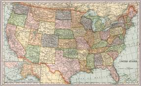 Us Map With Alaska by United States Map Die Cut On State Lines David Rumsey