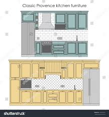 classic provence kitchen furniture stock vector 170237072