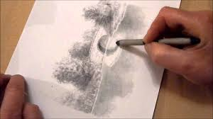 how to draw reflections in water using graphite pencils youtube