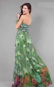 peacock print prom dress styles pictures fashion gallery