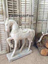 horse statue home decor diy high end inspired white horse statue home decor angela