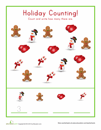 christmas count worksheets count and preschool christmas