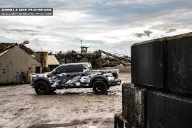 Ford F 150 Camo Truck Wraps - gorilla mad film wraps goes urban assault on a ford raptor