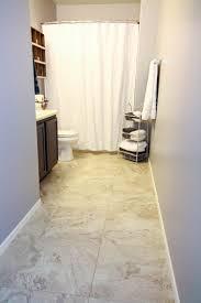 Update A Boring Bathroom With Vinyl Tile - Cheap bathroom vinyl flooring 2