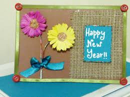 new year cards impressive kids handmade new year card design with used paper