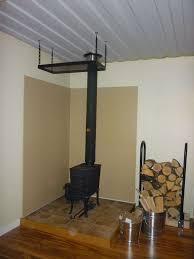 home design corner wood stove ideas few elements like wall color