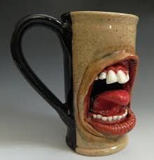 teeth and tongue mug for sale by thebigduluth on deviantart