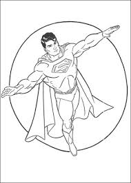 superman hero coloring free printable coloring pages