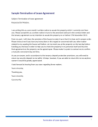 sample lease termination letter from landlord to tenant business