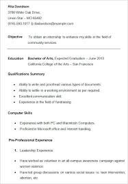 free student resume templates college student resume template 10 templates free sles exles