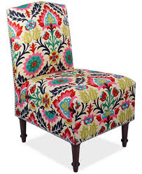 Patterned Accent Chair Barstow Santa Maria Fabric Accent Chair Quick Ship Created For