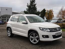 volkswagen suv white used volkswagen tiguan cars for sale motors co uk