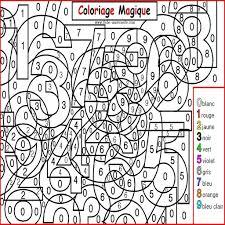 coloriage magique gratuit à imprimer