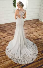 simple lace wedding dresses simple lace wedding gown essense of australia wedding gowns