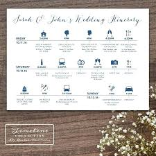 wedding itinerary wedding itinerary template timetable for guests sign