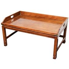 Tray Coffee Table Moroccan Style Collapsible Coffee Table With Tray Top Ebth