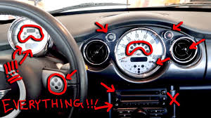 mini cooper warning lights meanings mini cooper dashboard lights buttons switches explained r52 2007