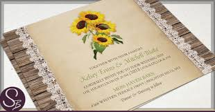 sunflower wedding invitations rustic sunflower wedding invitations archives rustic paper