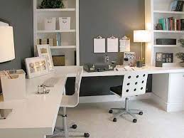 Modern Computer Desk Office Wonderful Home Office With L Shape White Modern Computer