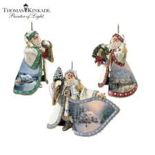 kinkade heirloom santa ornament collection