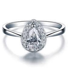 verlobungsringe weiãÿgold mit diamant echtschmuck aus weißgold mit tropfen schliffform ebay