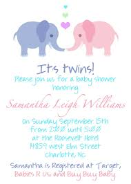 Babyshower Invitation Card Twins Baby Shower Invitations Dhavalthakur Com