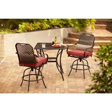 Patio High Chairs Hton Bay Fall River 3 Bar Height Patio Dining Set With