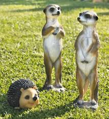 meerkat garden ornaments meerkats figures for gardens outdoor