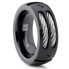 mens wedding bands titanium mens black titanium wedding rings wedding corners