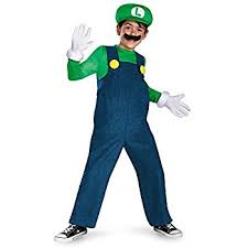 amazon super mario brothers deluxe luigi costume medium