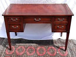 Small Vintage Writing Desk Mahogany Writing Desk Leather Top Writing Desk Executive Desk