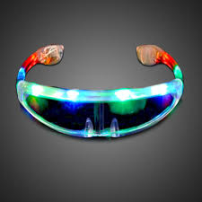 extreme glow u0027s battery operated lighted led sunglasses