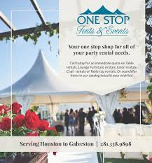Table And Chair Rentals Houston by Catalog Archive One Stop Party