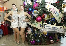radio city rockettes deliver toys to children at newyork
