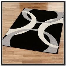 Large Black Area Rug White And Black Area Rug Visionexchange Co