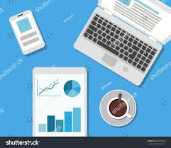 Design Gadgets Flat Style Modern Design Office Workplace Stock Vector 472202989